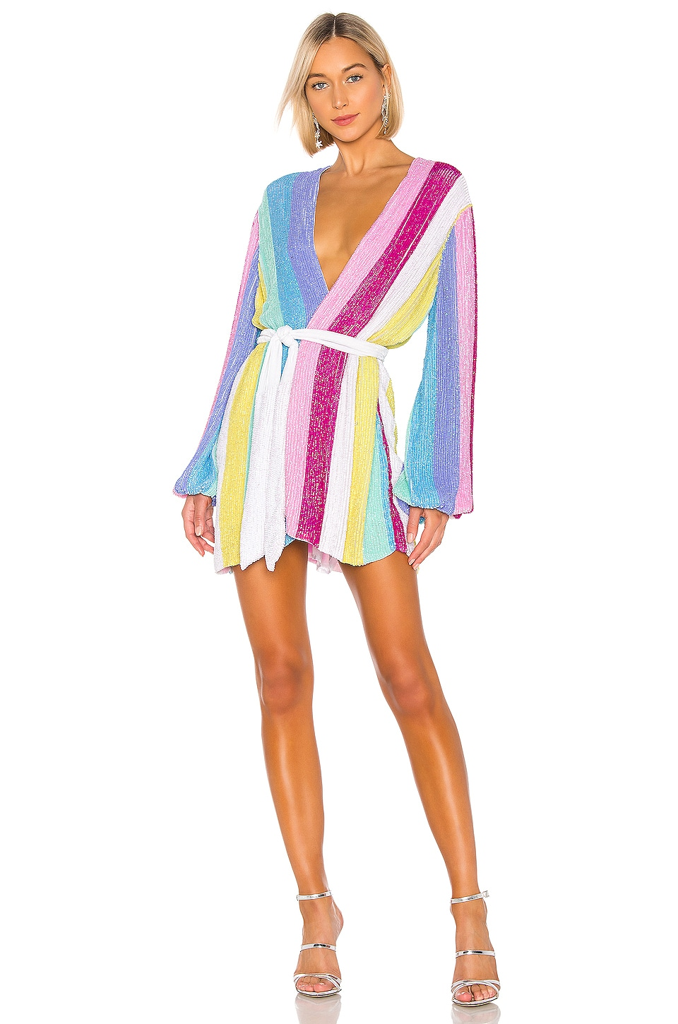 retrofete Gabrielle Robe in Unicorn Stripes
