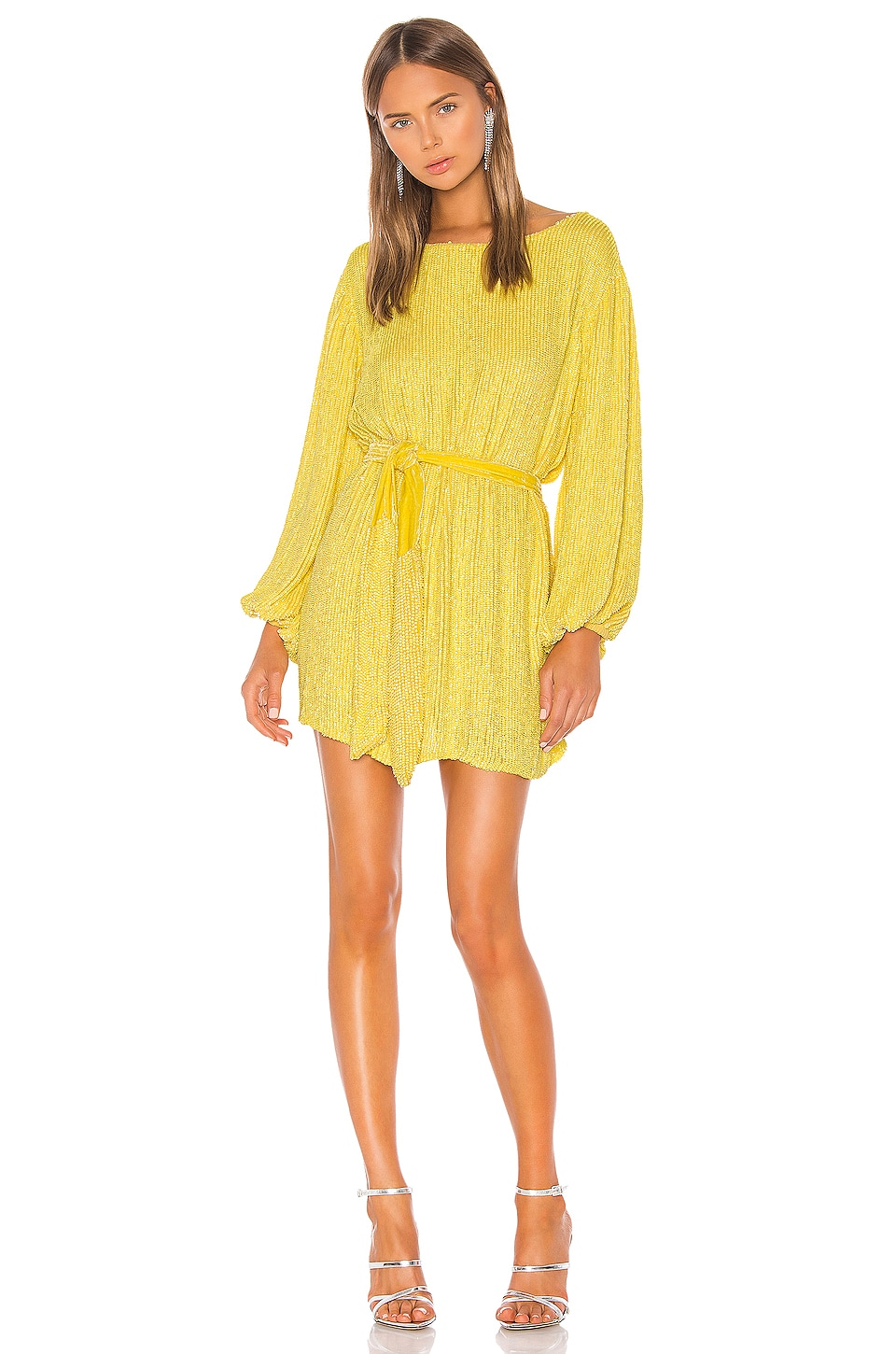 retrofete Grace Dress in Metallic Yellow
