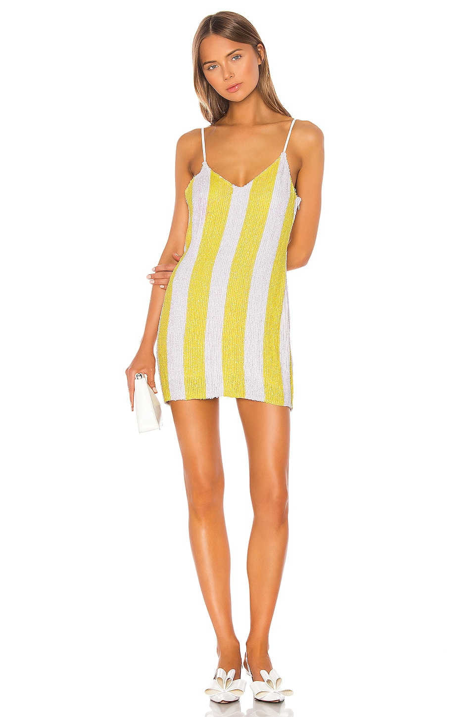 retrofete Claire Dress in Yellow Stripes