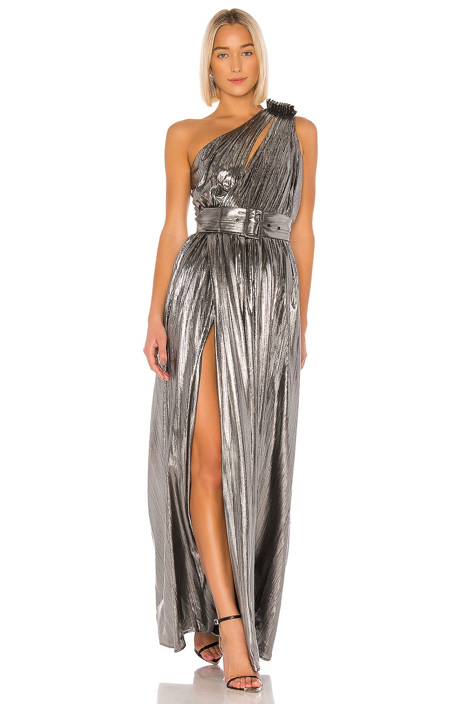 retrofete Andrea Gown in Gunmetal