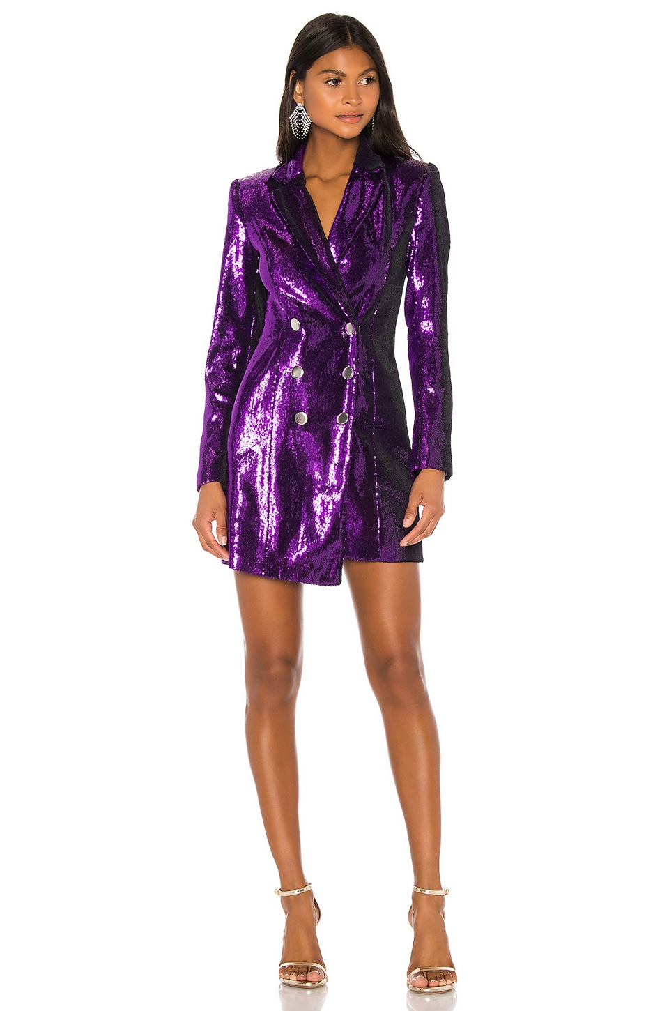 retrofete Selena Jacket Dress in Purple