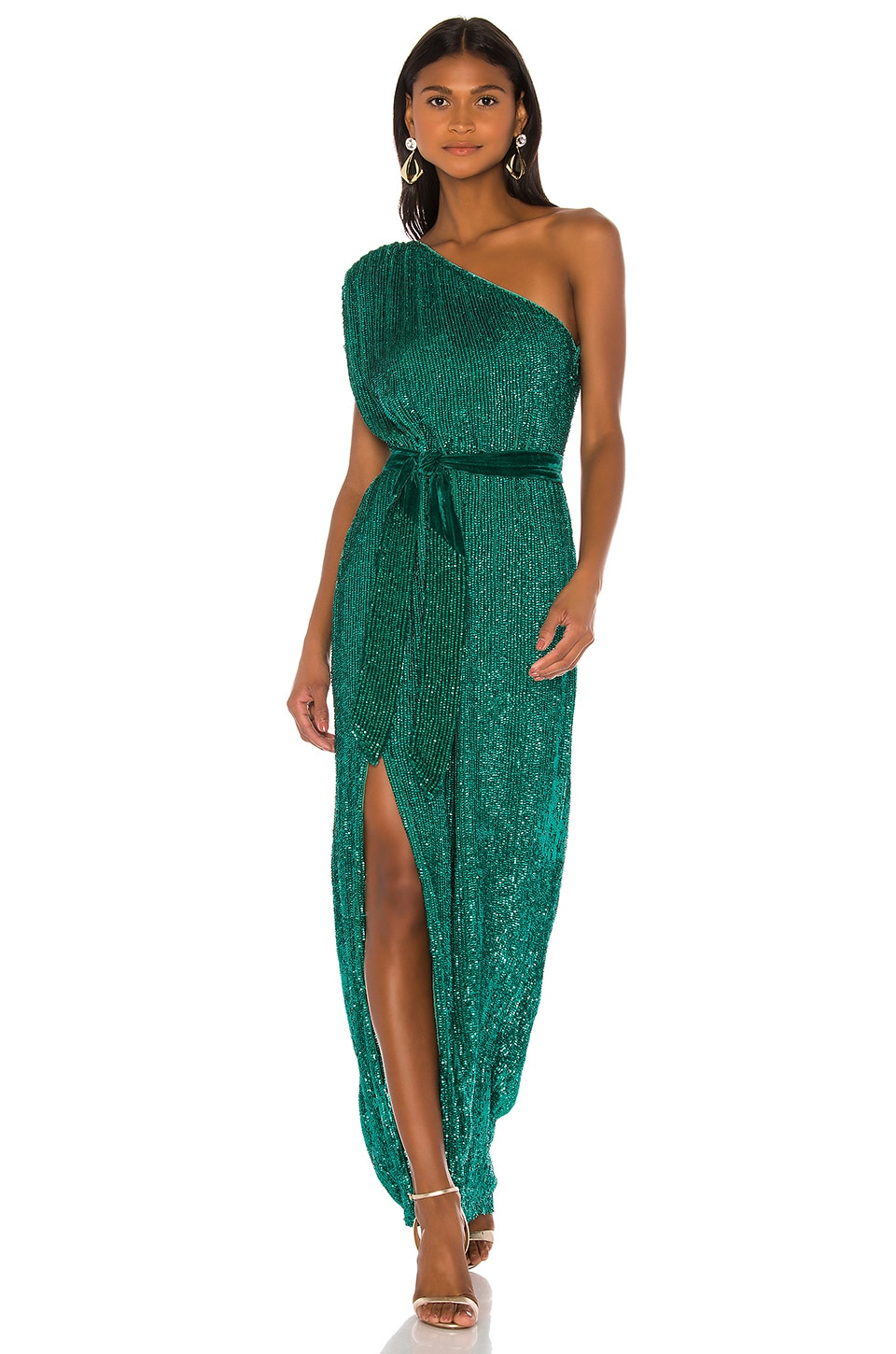 retrofete Vivien Gown in Emerald