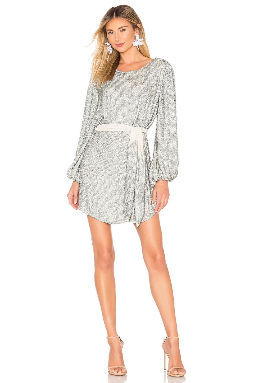 retrofete Grace Dress in Silver Sequin