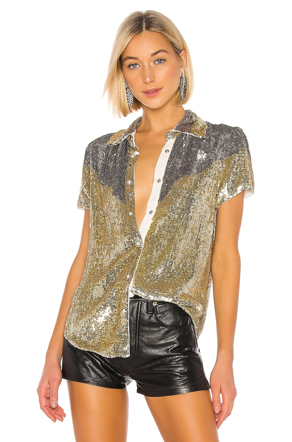 retrofete x REVOLVE Linda Top In Gold & Silver