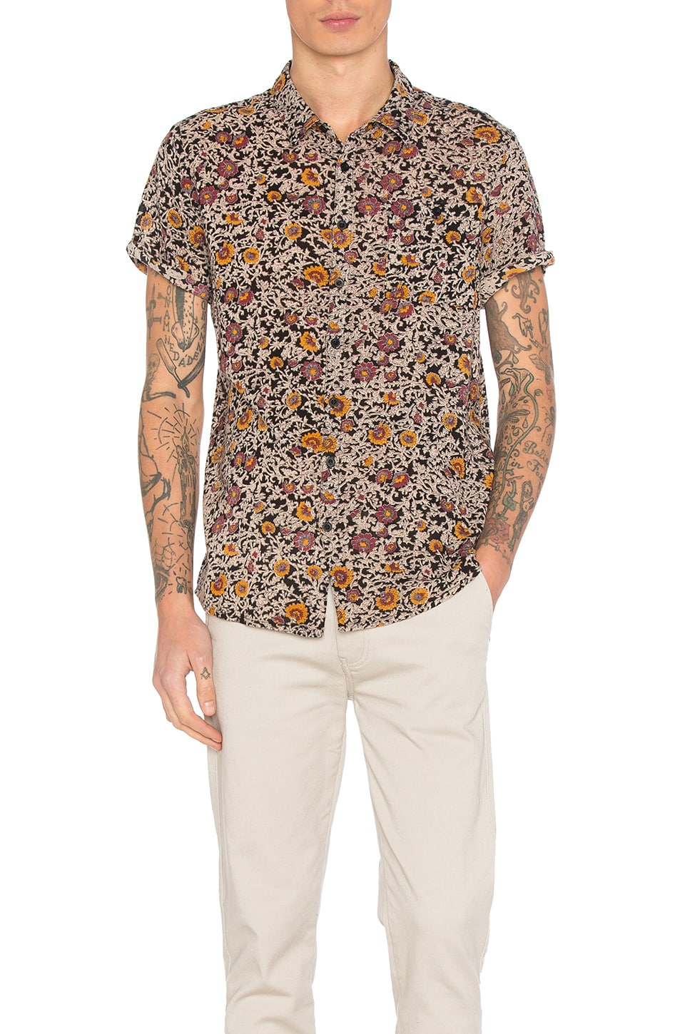 Black Floral Shirt by ROLLA'S