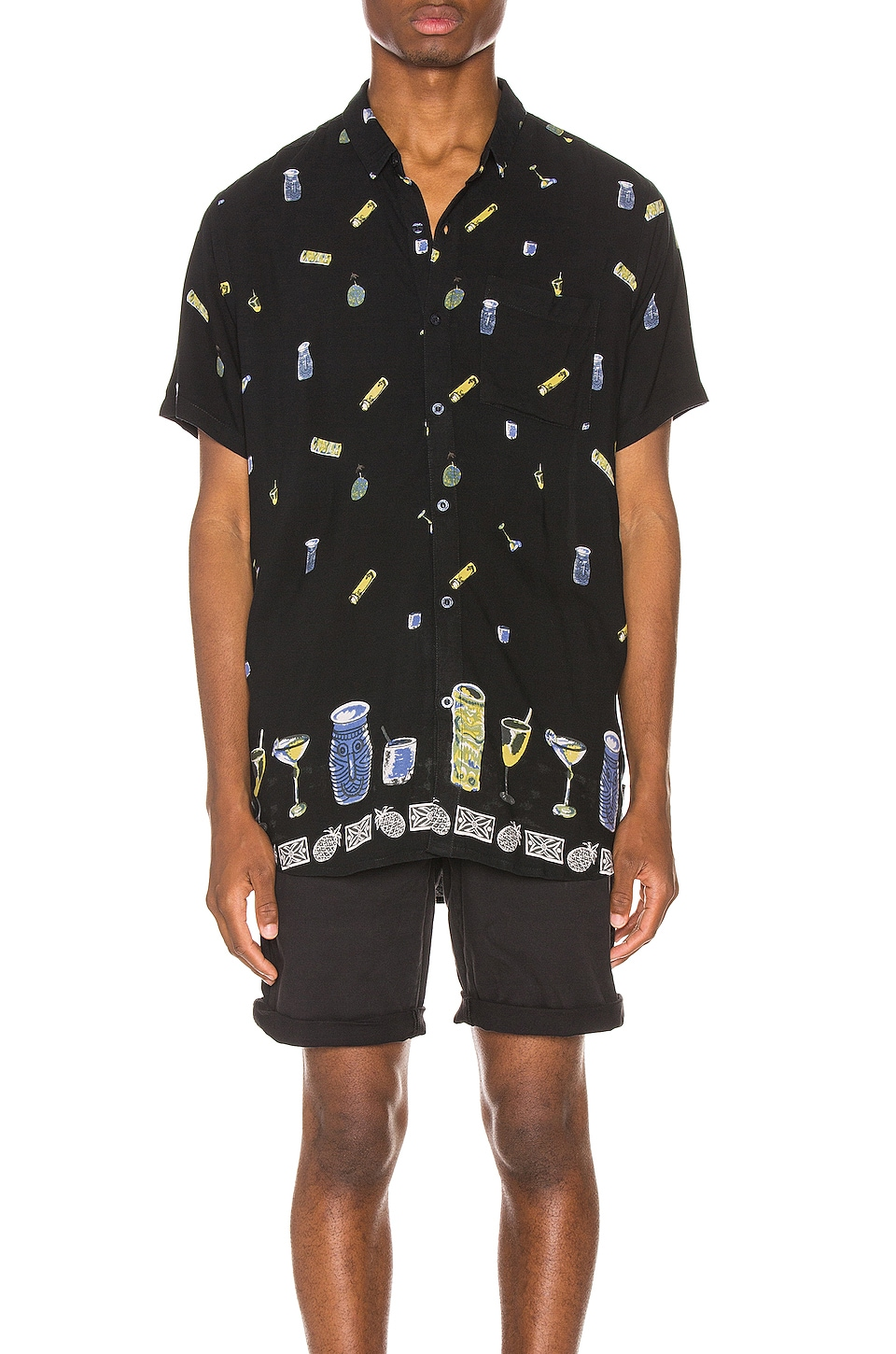 ROLLA'S Bon Drinks On Me Shirt in Black