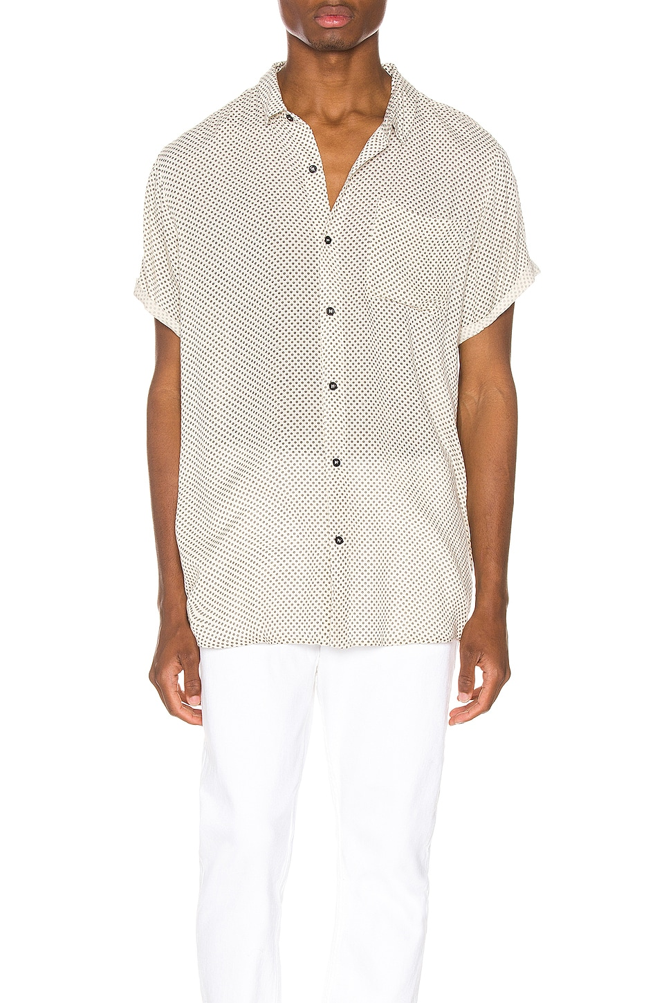 ROLLA'S Beach Boy Dot Shirt in Dreamtime White
