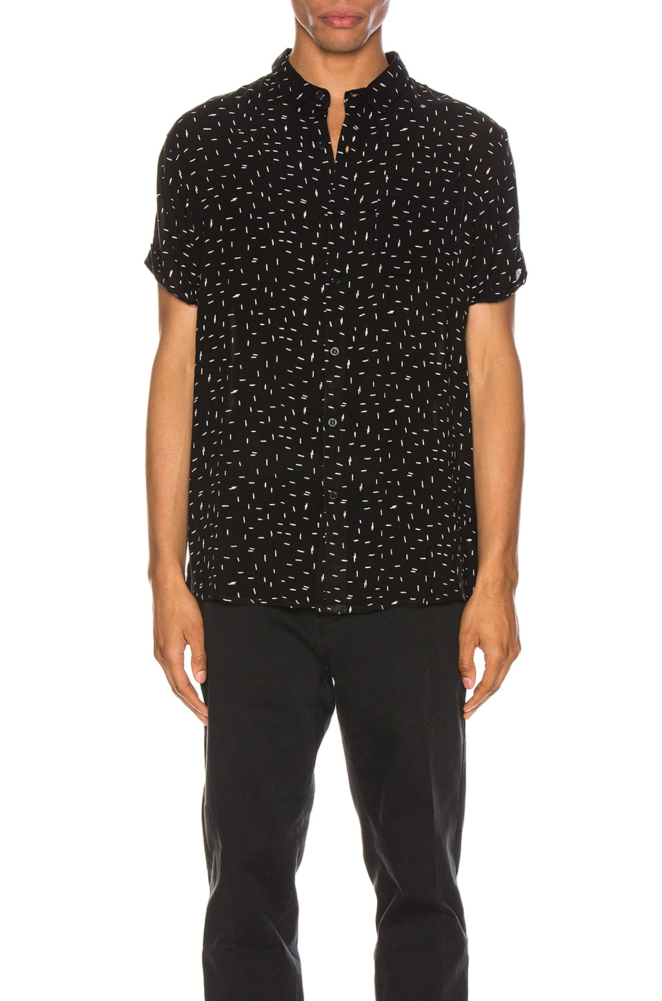 ROLLA'S Beach Boy Dash Print Shirt in Black