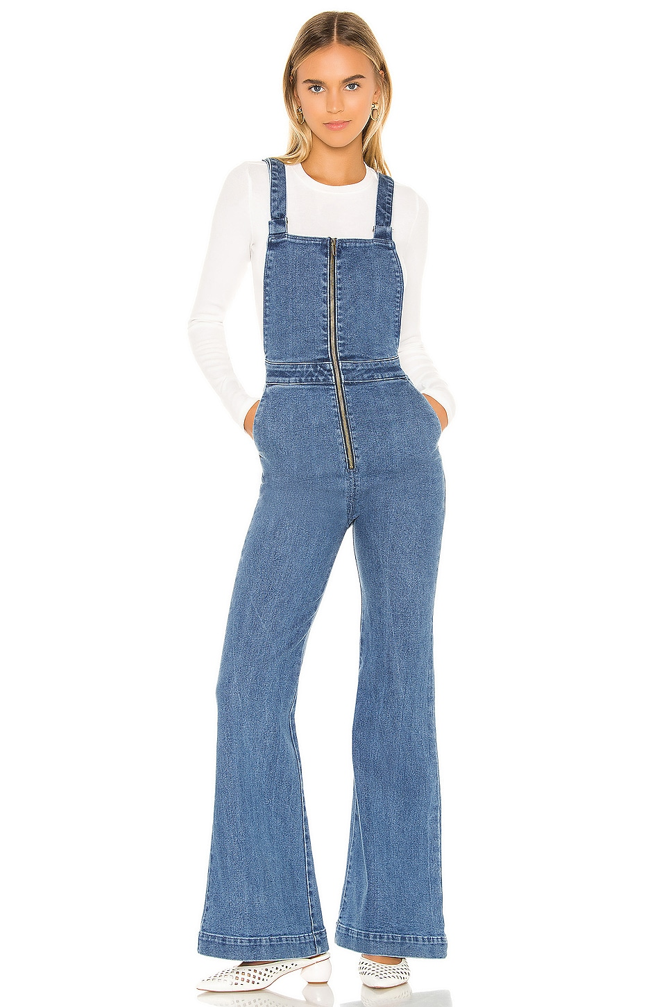 ROLLA'S Eastcoast Flare Overall in Eco Judy Blue