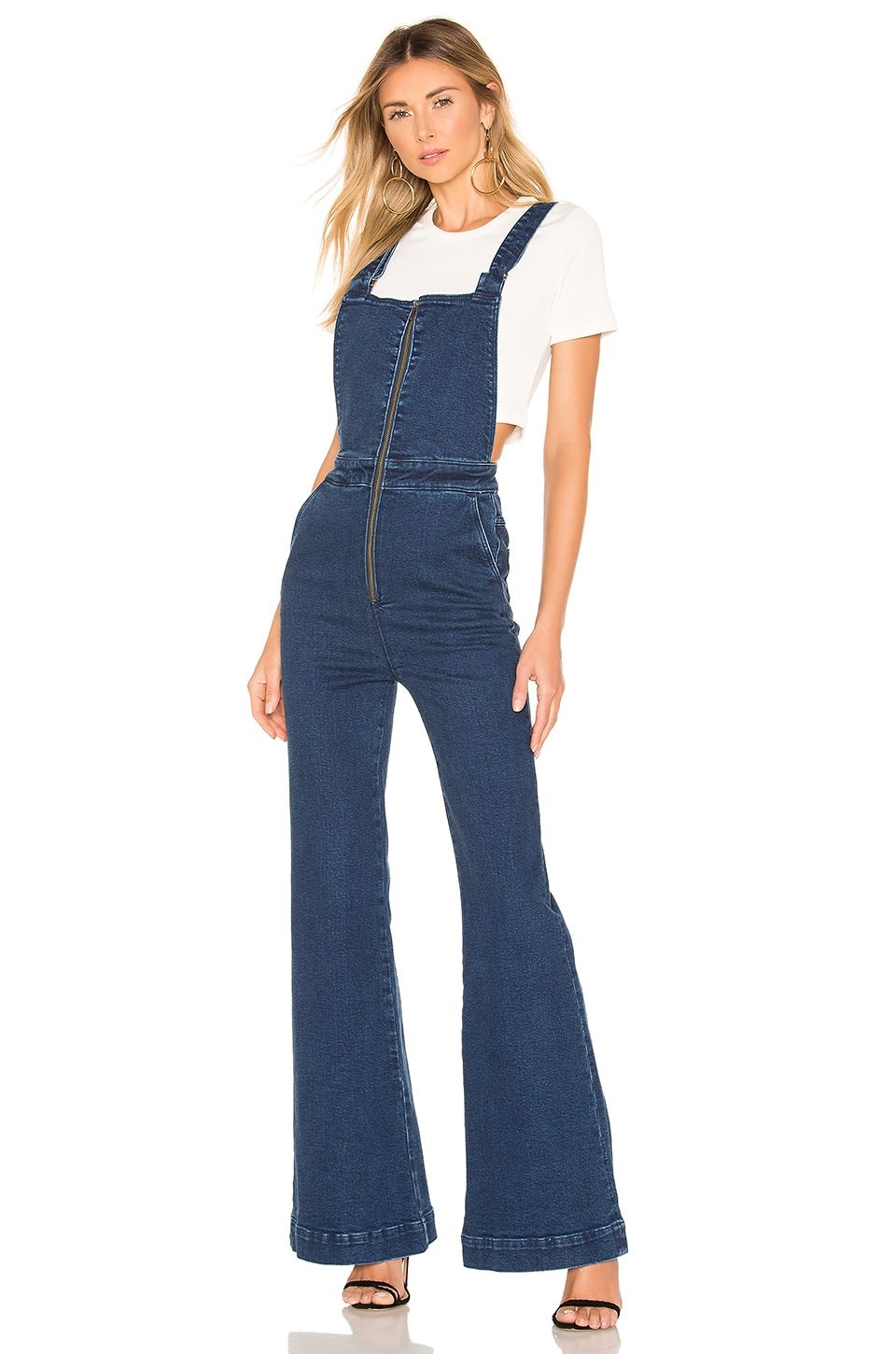 ROLLA'S Eastcoast Flare Overall in French Blue