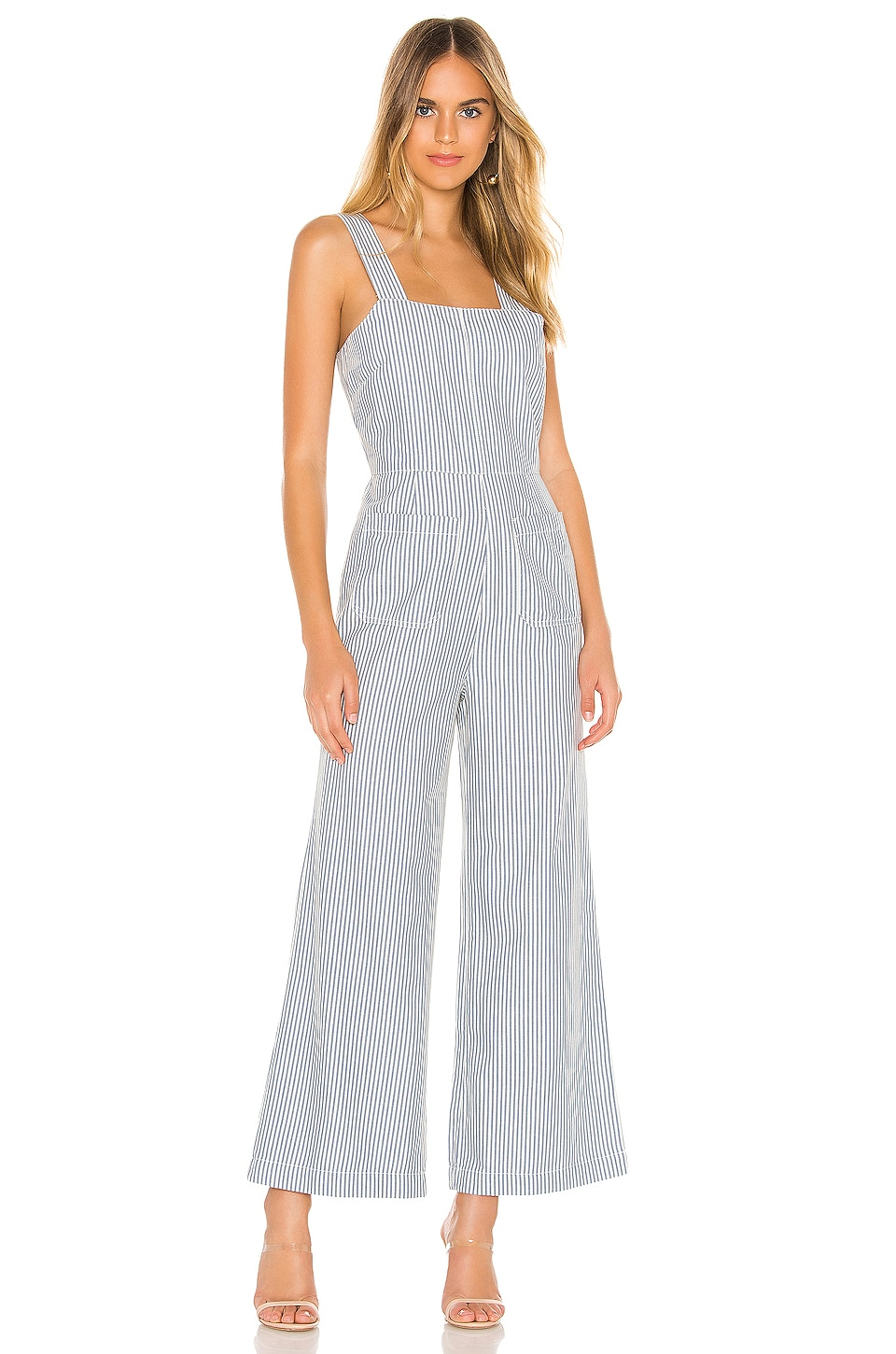 ROLLA'S Sailor Stripe Jumpsuit in Blue & White