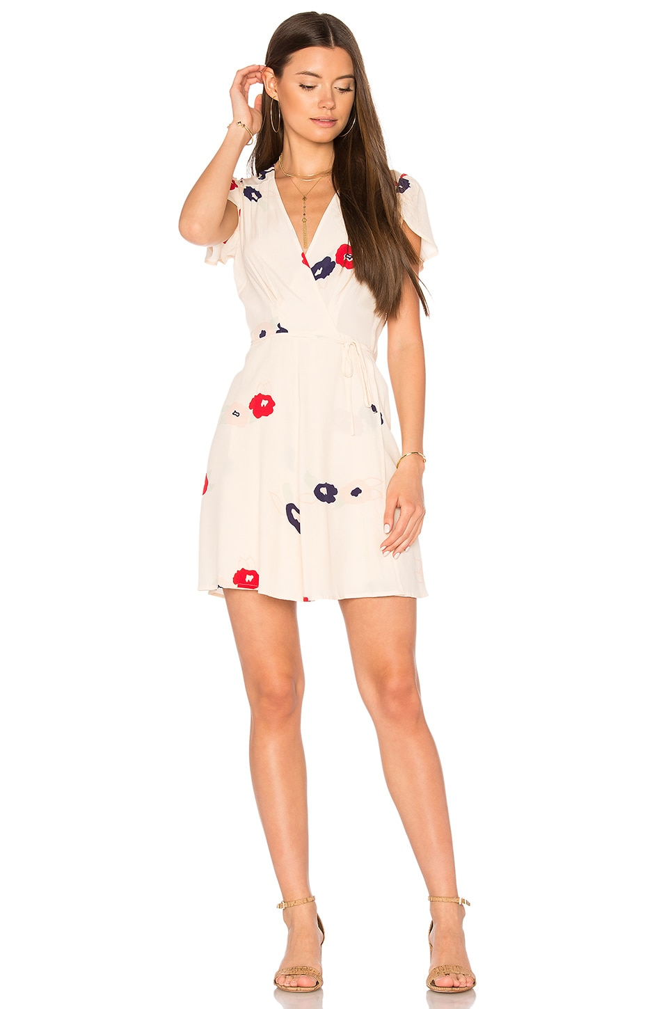 ROLLA'S Dancer Wrap Dress in Vanilla Rose