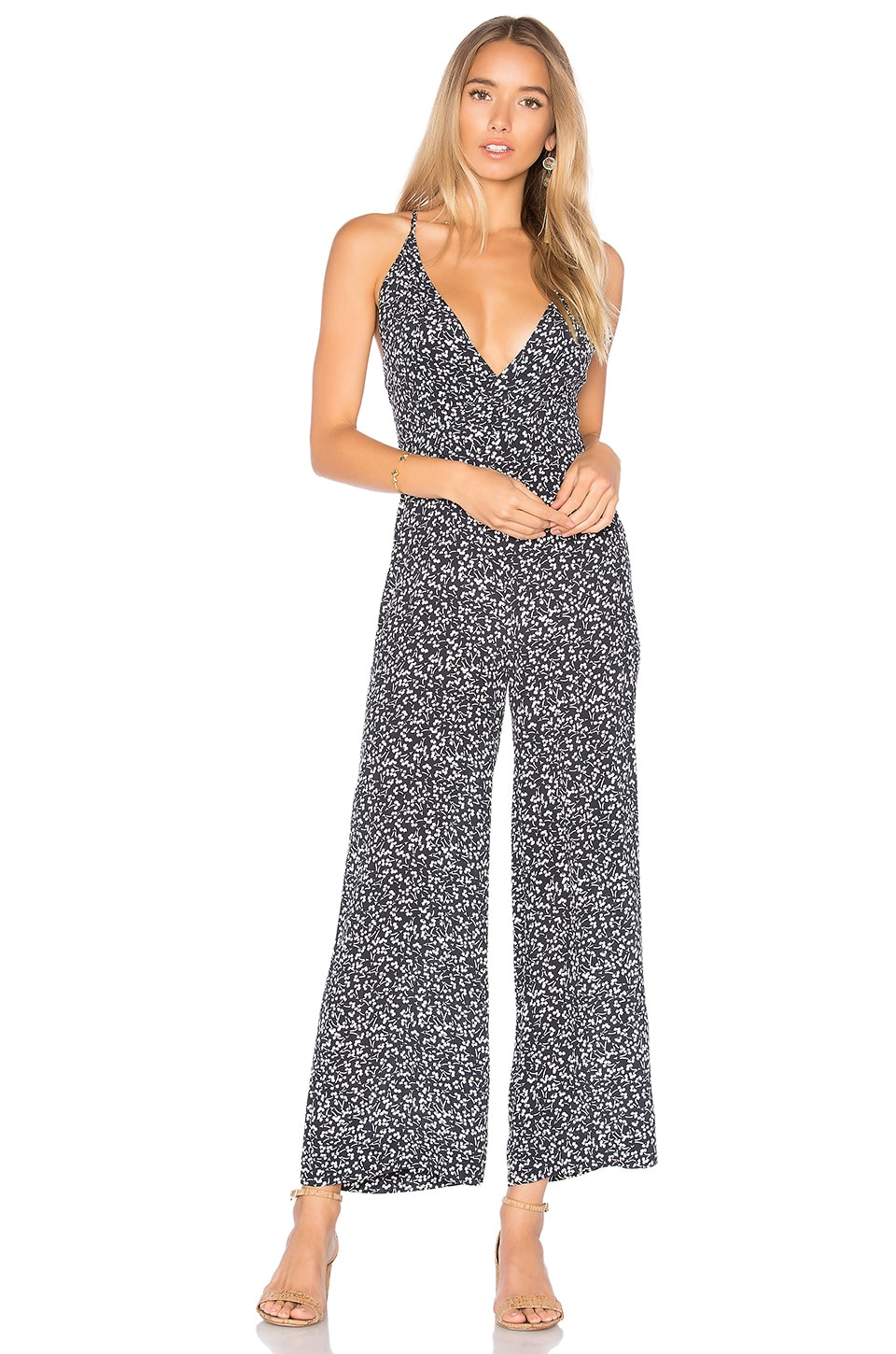 ROLLA'S Jerry Jumpsuit in Black Mirage