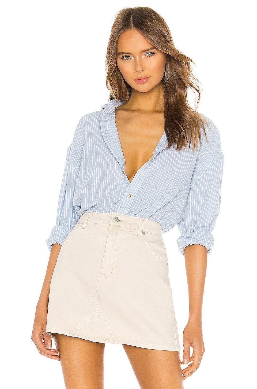 ROLLA'S Slouch Stripe Shirt in Sky & White