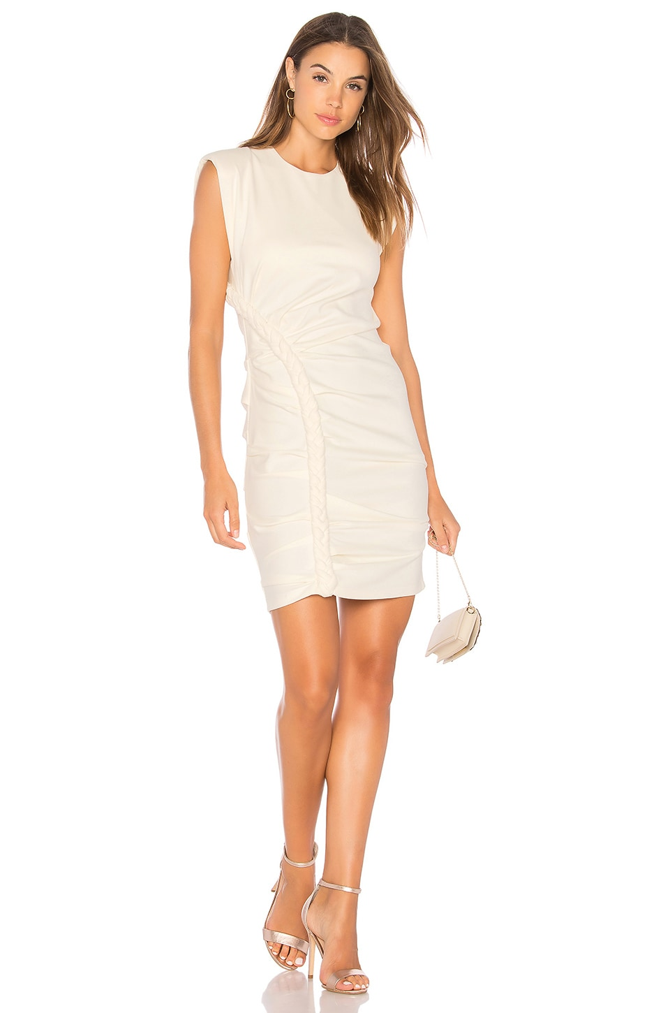 Ronny Kobo Adena Mini Dress in Ivory