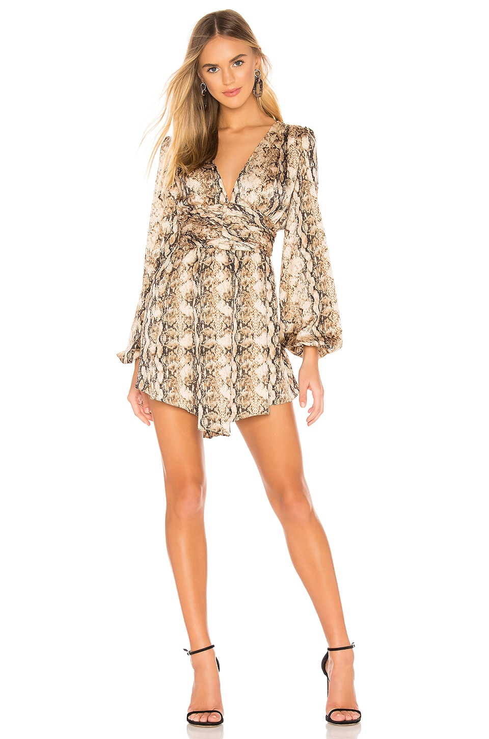 Ronny Kobo Orzora Dress in Nude Multi