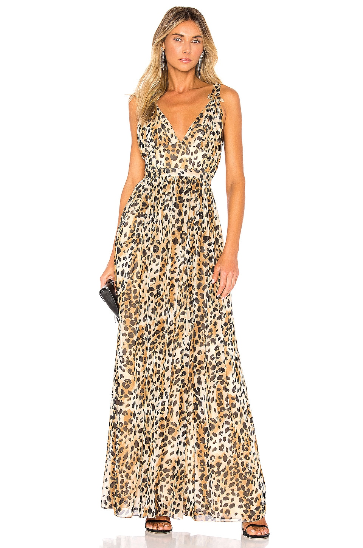 Ronny Kobo Sallee Gown in Leopard Multi