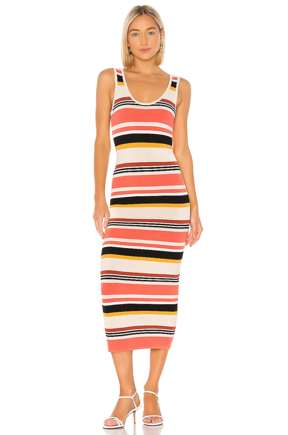 Ronny Kobo Latrice Dress in Rust Multi
