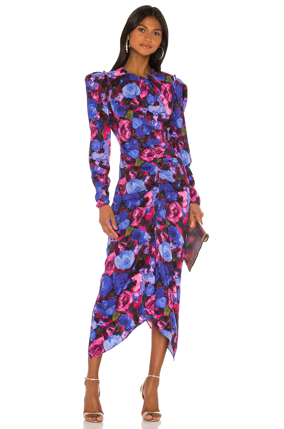 Ronny Kobo Bianco Dress in Cobalt Multi