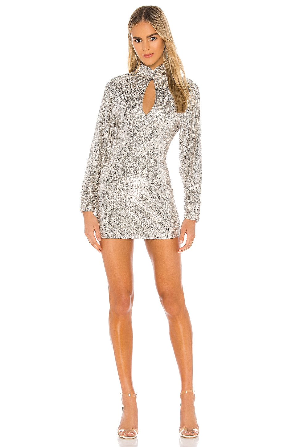 Ronny Kobo Lauper Dress in Silver