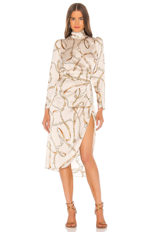 Ronny Kobo Bianca Dress in Ivory Multi