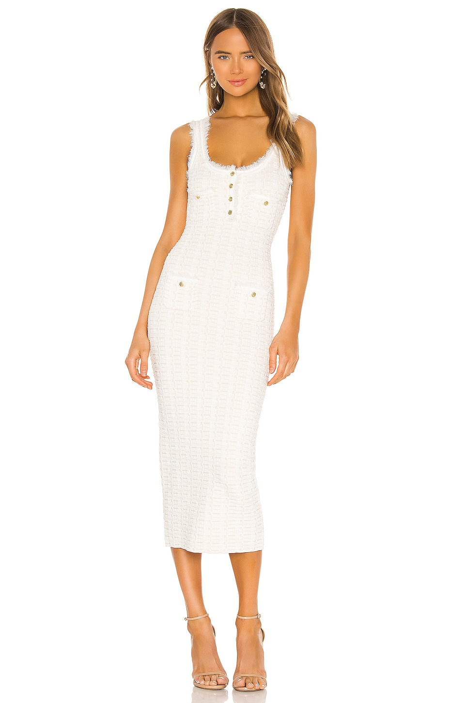 Ronny Kobo Nina Dress in White & Ecru