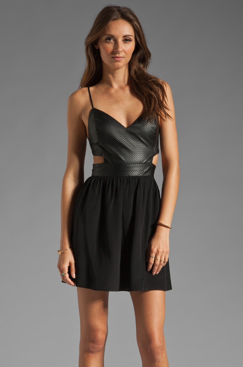 Rory Beca Cherry Cut Out Dress in Onyx