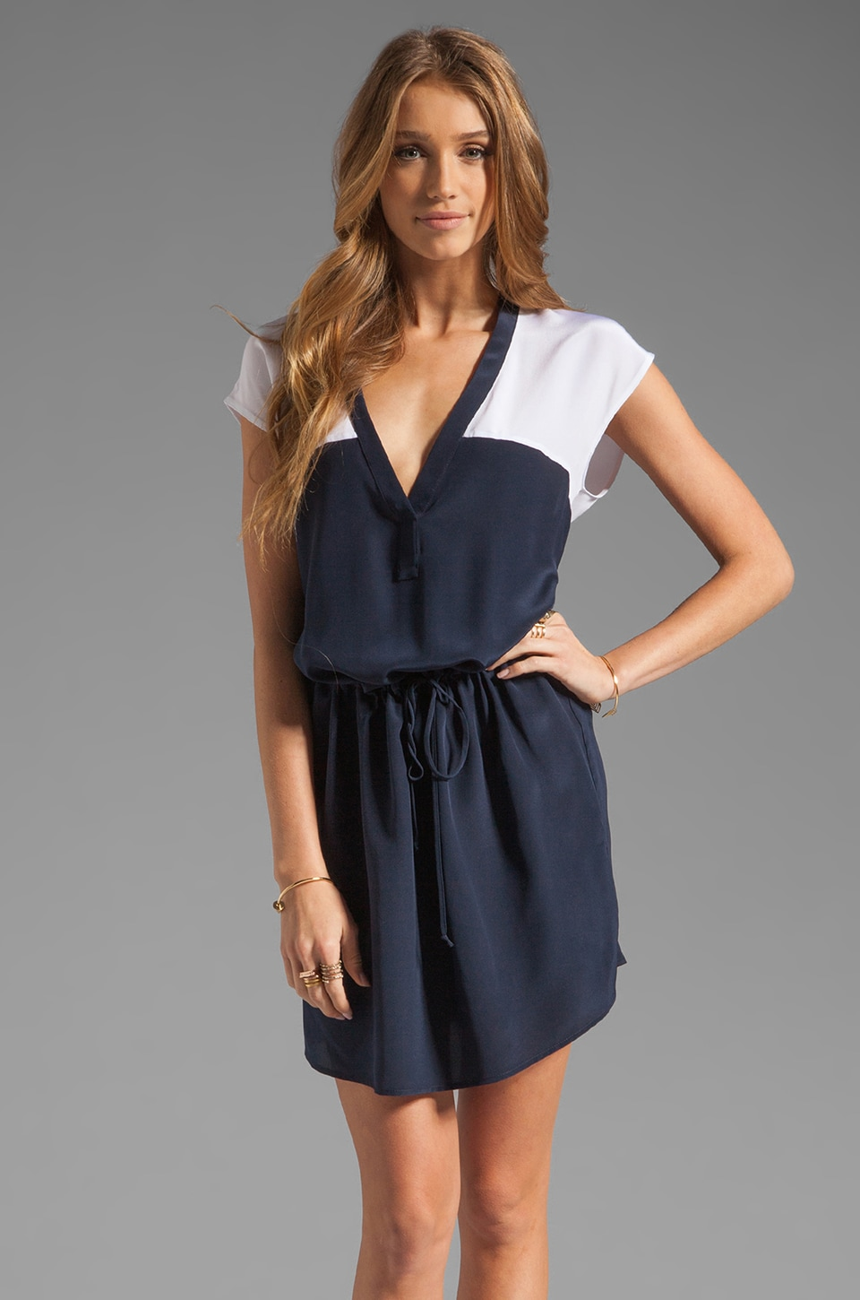 Rory Beca Sunset Color Block Dress in Deep Blue