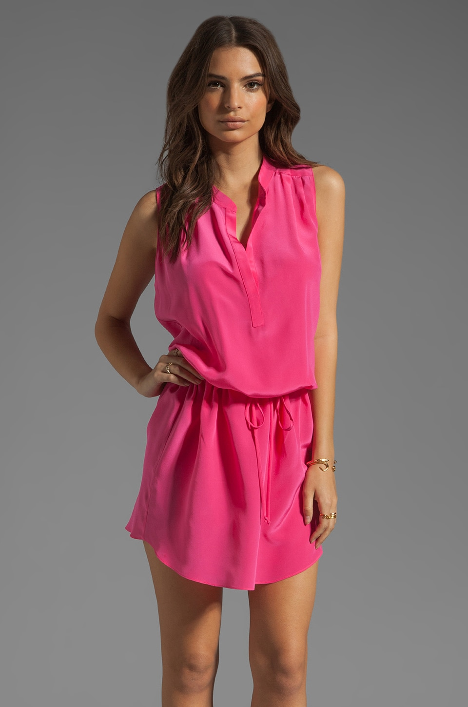 Rory Beca Mar Pleated Shoulder Dress in Cocktail