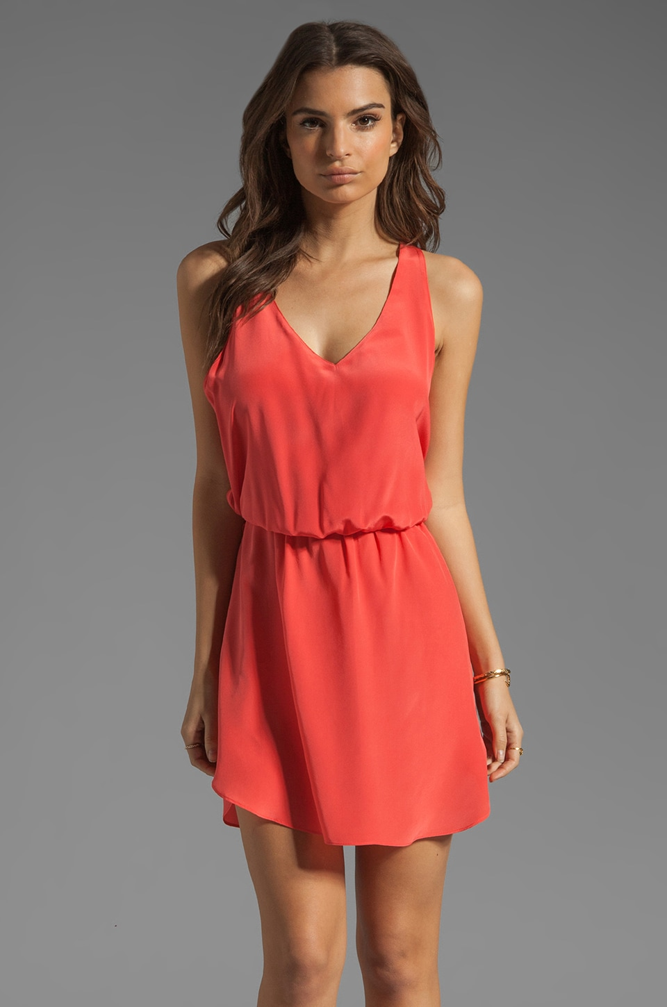 Rory Beca Cantina Open Back Dress in Watermelon