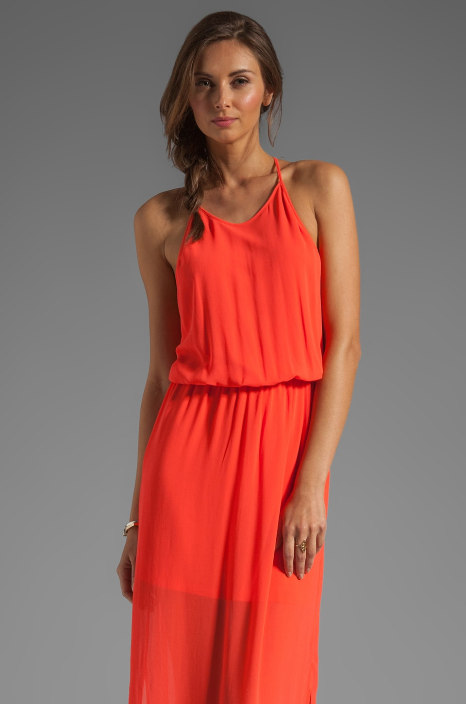 Rory Beca Gemma T-Back Gown in Watermelon