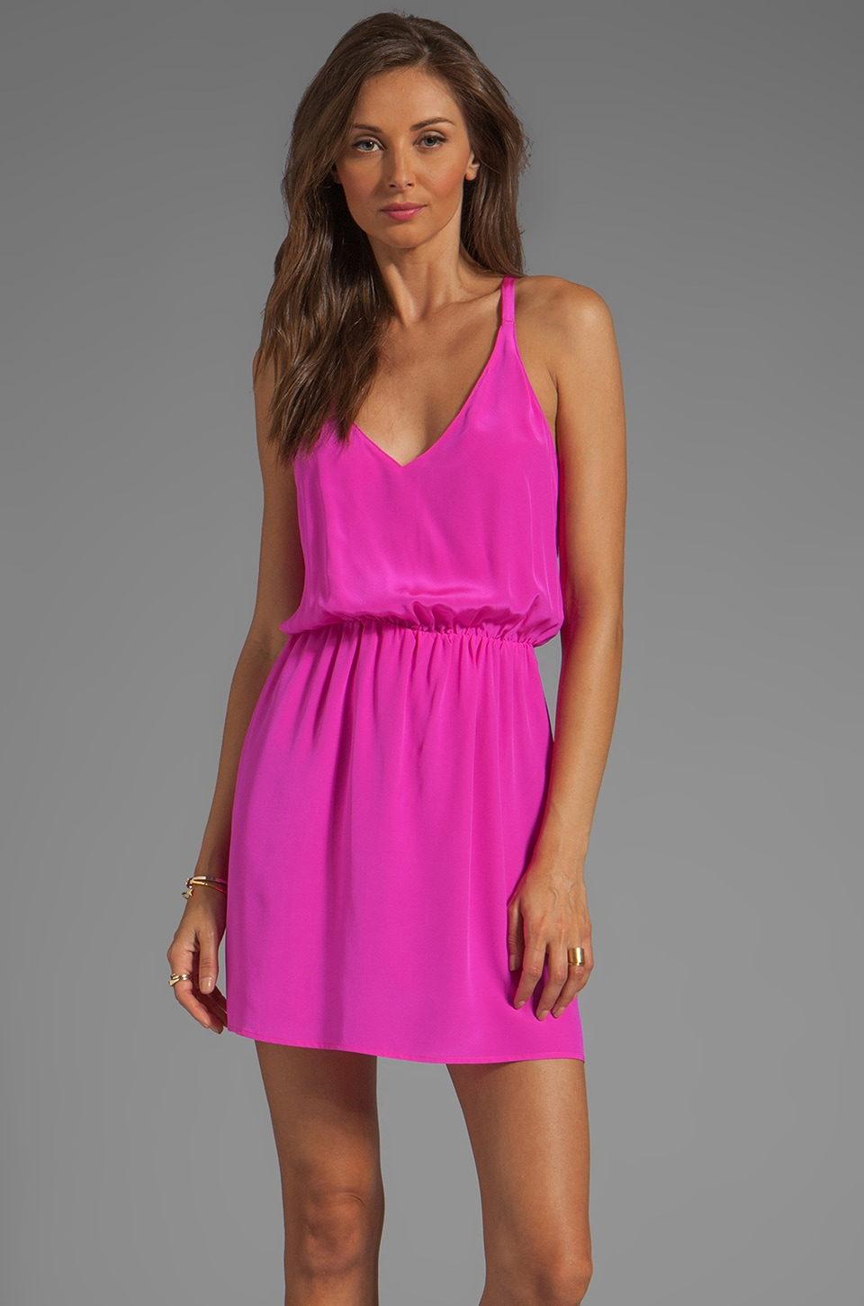 Rory Beca Soloman Overlap Back Dress in Pink Bikini