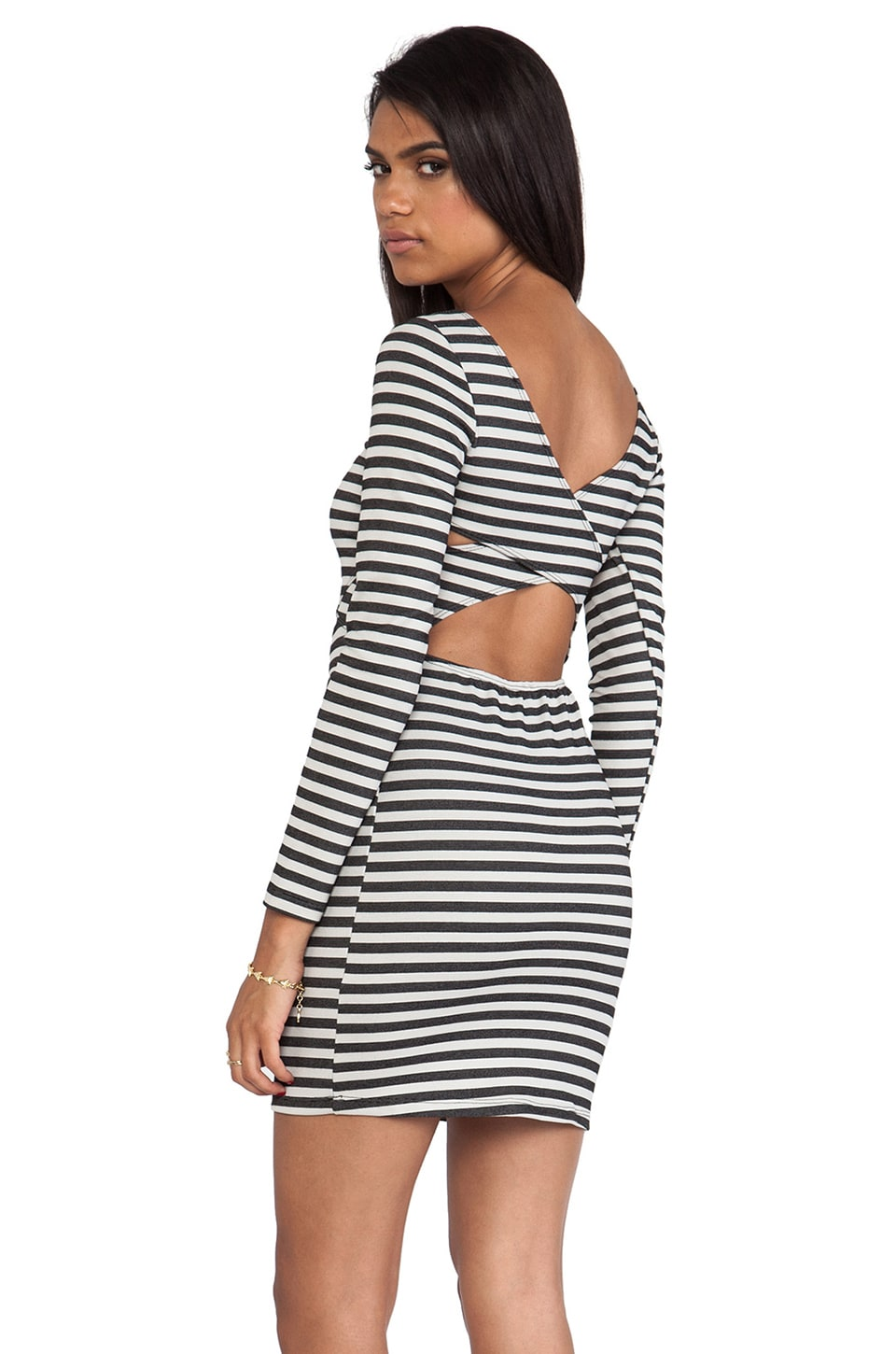 Rory Beca Bridge Stripe Cross Back Dress in Bandit