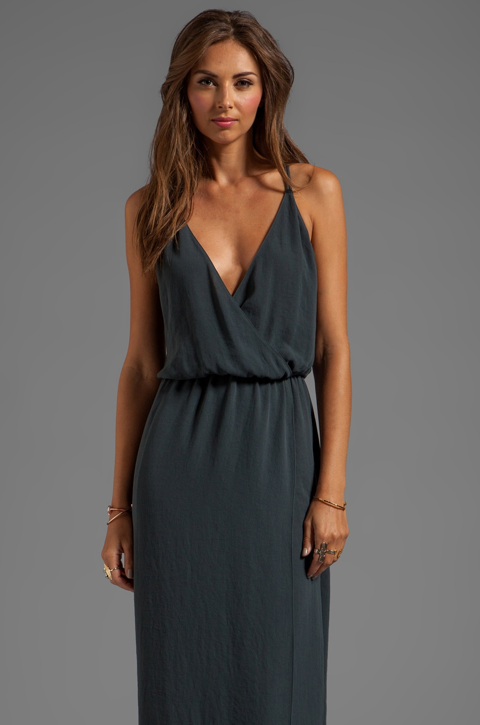 Rory Beca Minna Double Strap Gown in Cement