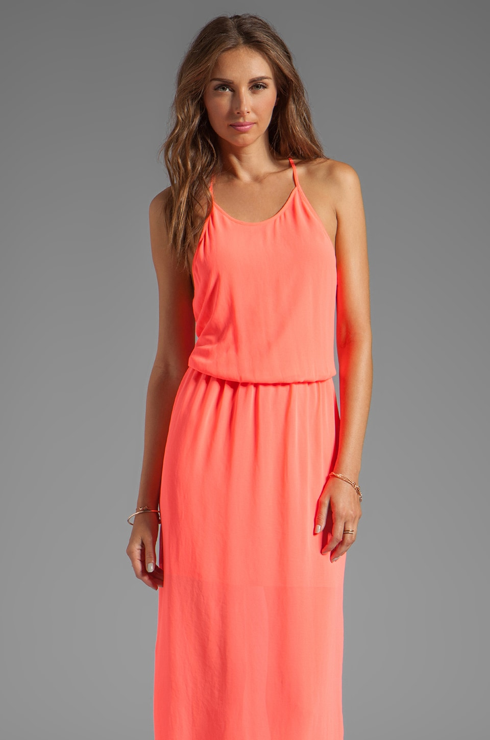 Rory Beca Gemma T Back Gown in Coral