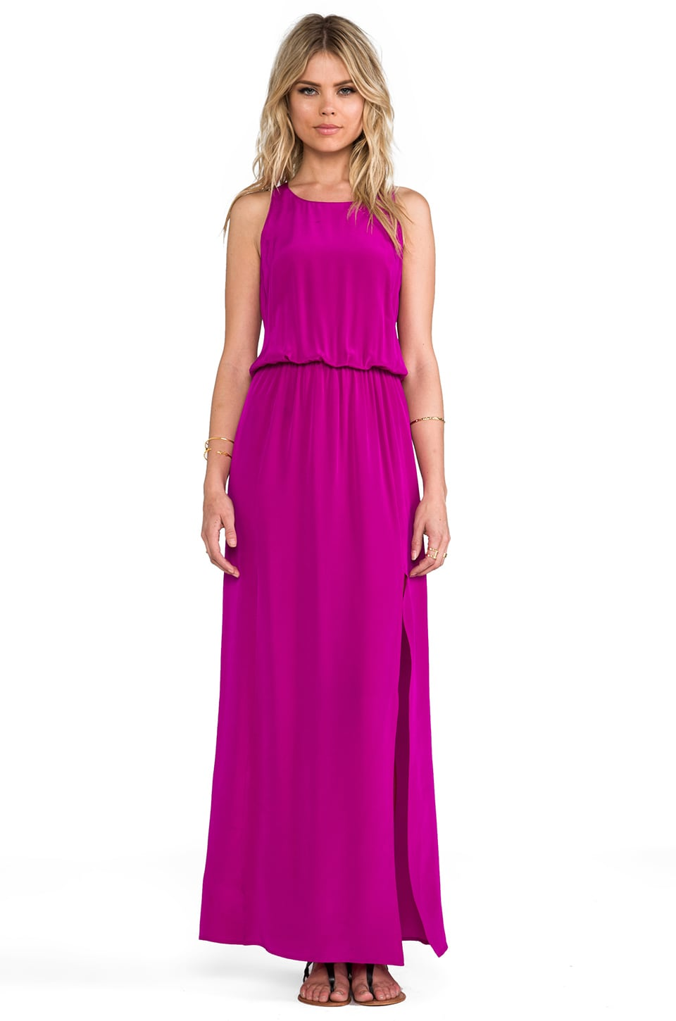Rory Beca Flores Racer Back Maxi Dress in Crush