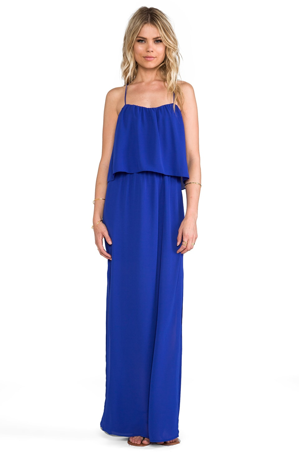 Rory Beca Tania Cross Back Maxi Dress in Walter