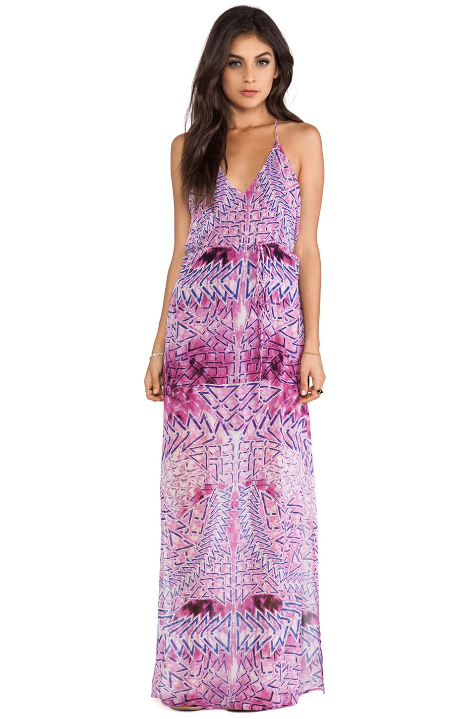 Rory Beca Theda T Back Maxi Dress in Bowie
