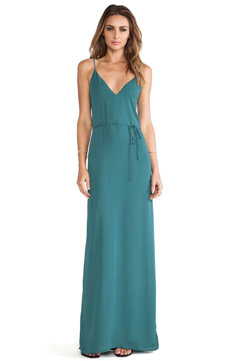 Rory Beca Harlow Deep V-Back Gown in Leander