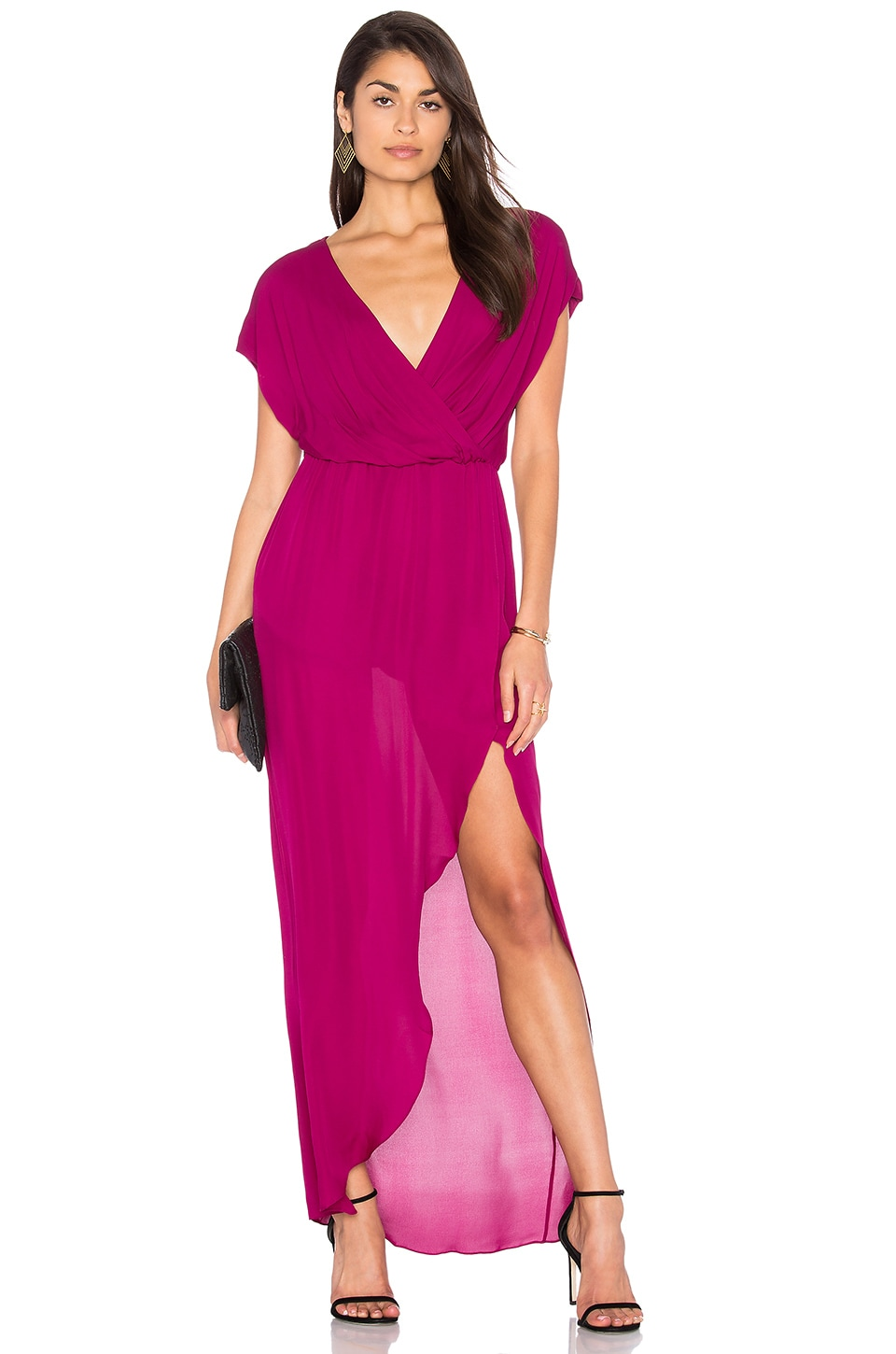 Rory Beca MAID Plaza Gown in Dahlia