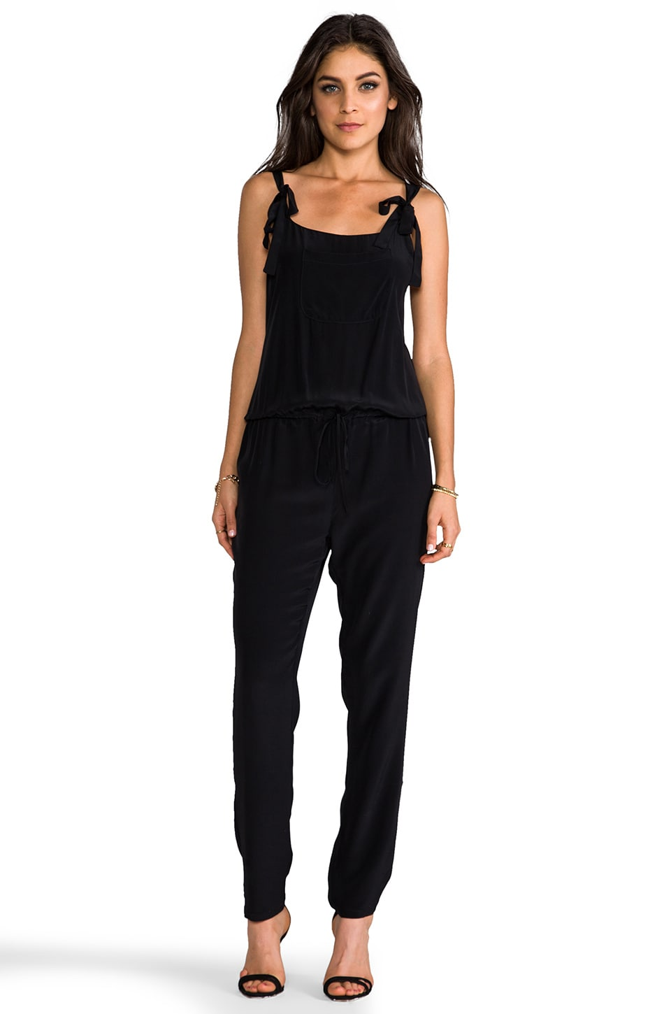 Rory Beca Keoki Overall Jumpsuit in Onyx