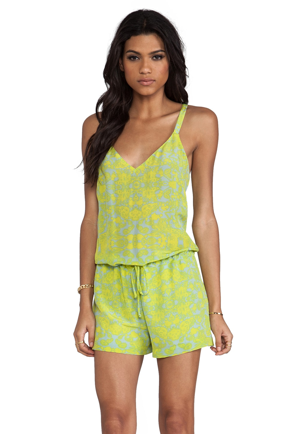 Rory Beca Celula V-Neck Romper in Picado