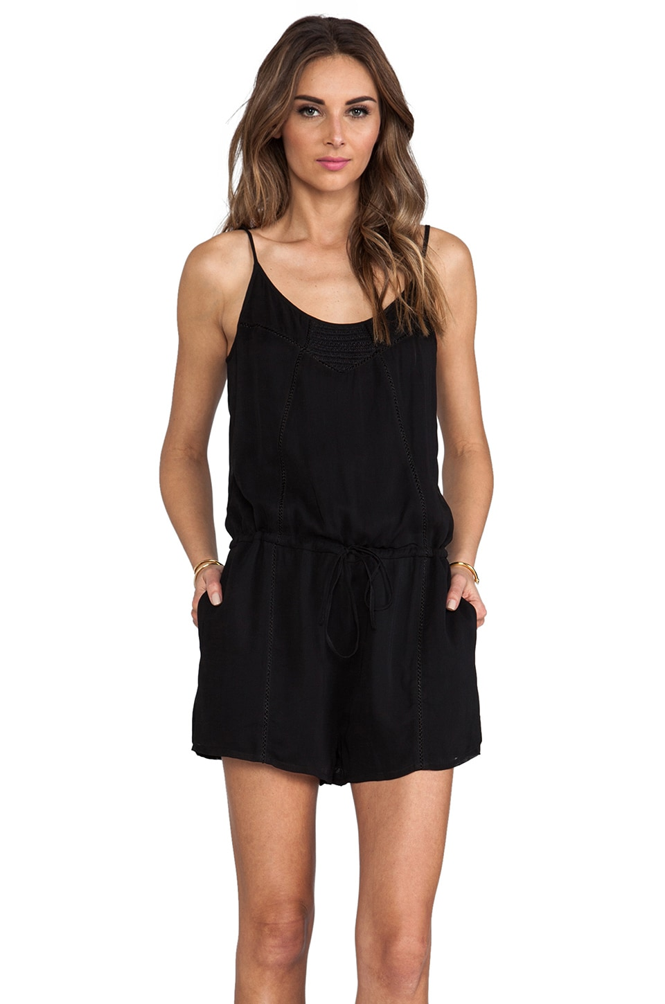Rory Beca Crowd Romper in Black