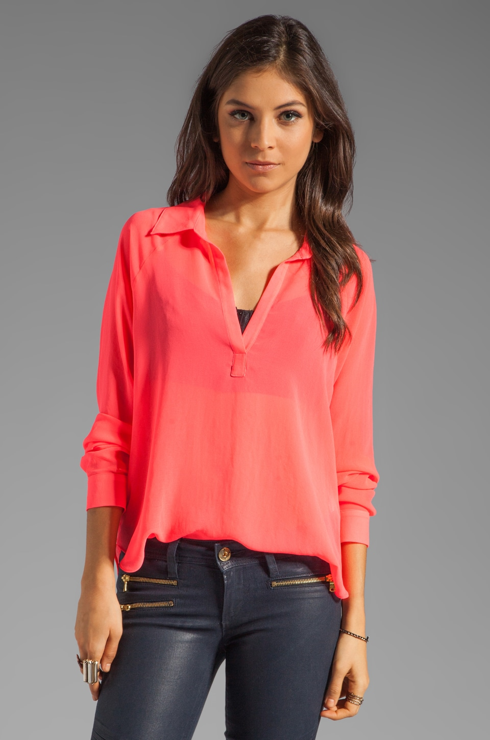 Rory Beca Clayton Raglan Blouse in Dazzle
