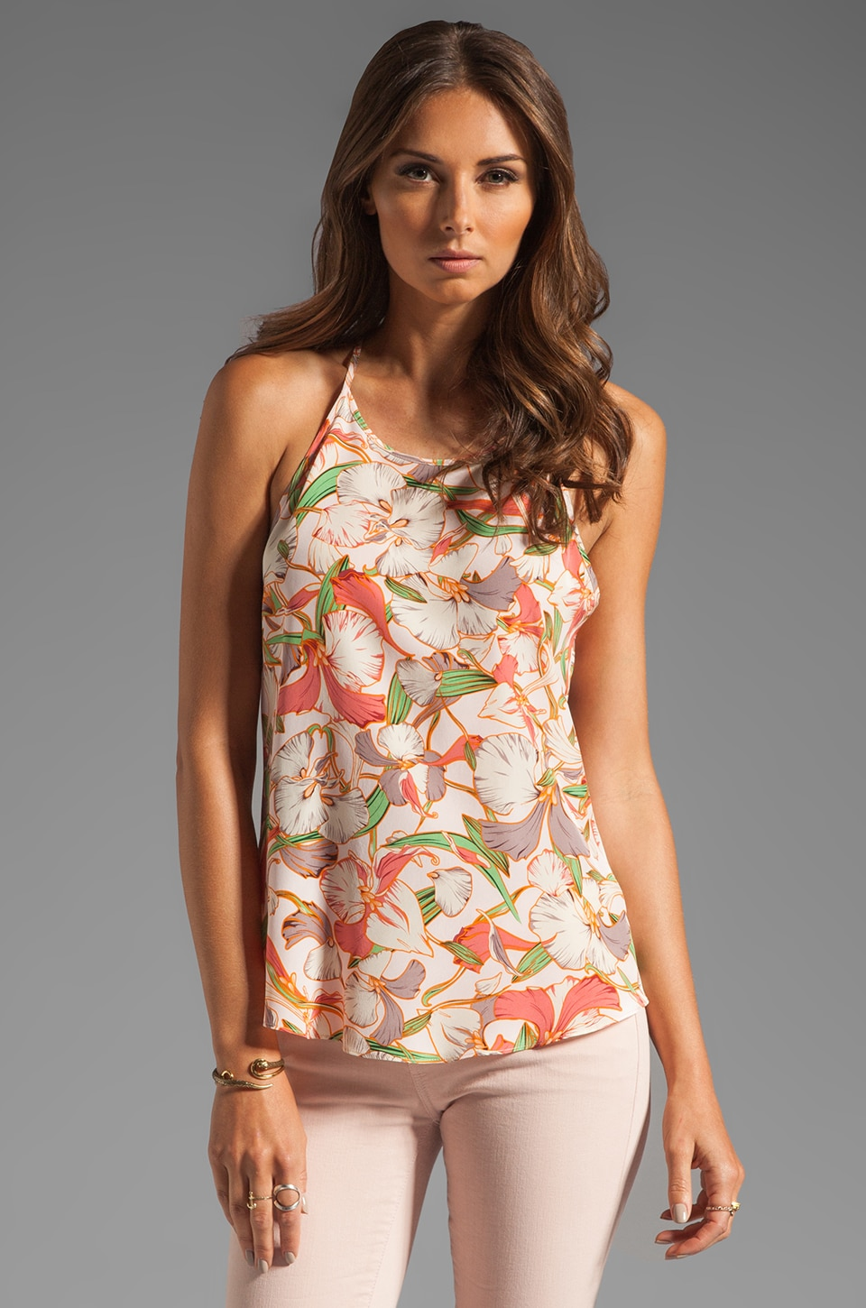 Rory Beca Carrillo T Back Halter Cami in Gimlet