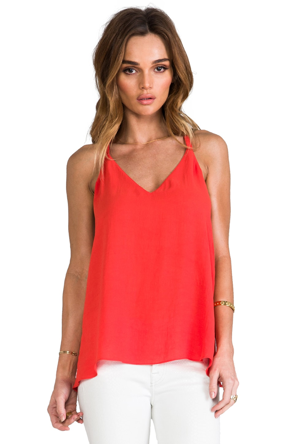 Rory Beca x REVOLVE Dede Overlap Cami in Persimmon