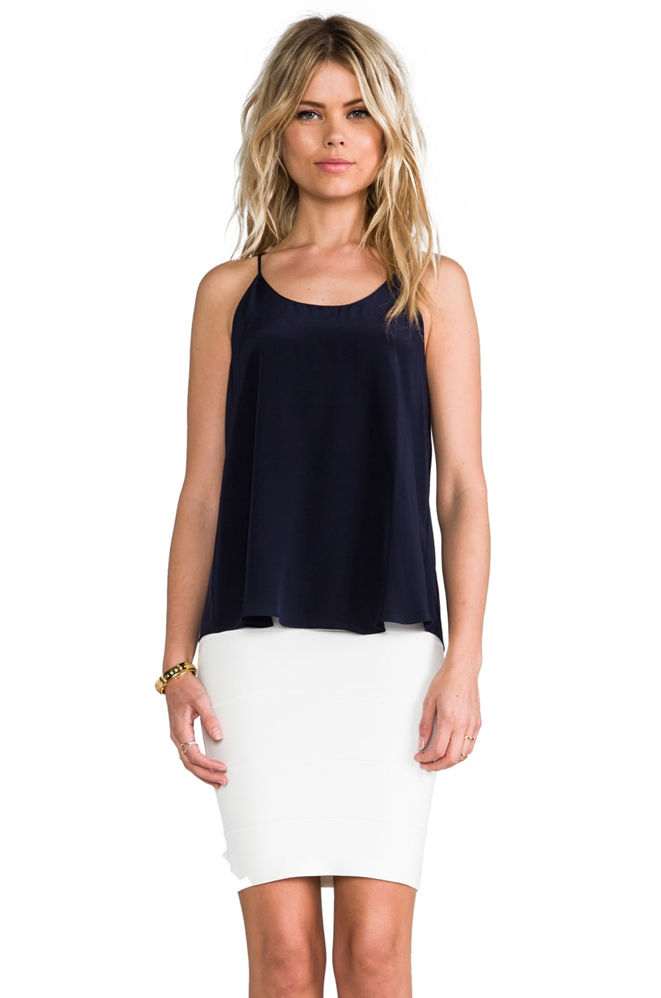 Rory Beca Lars Pleated Tank in Deep