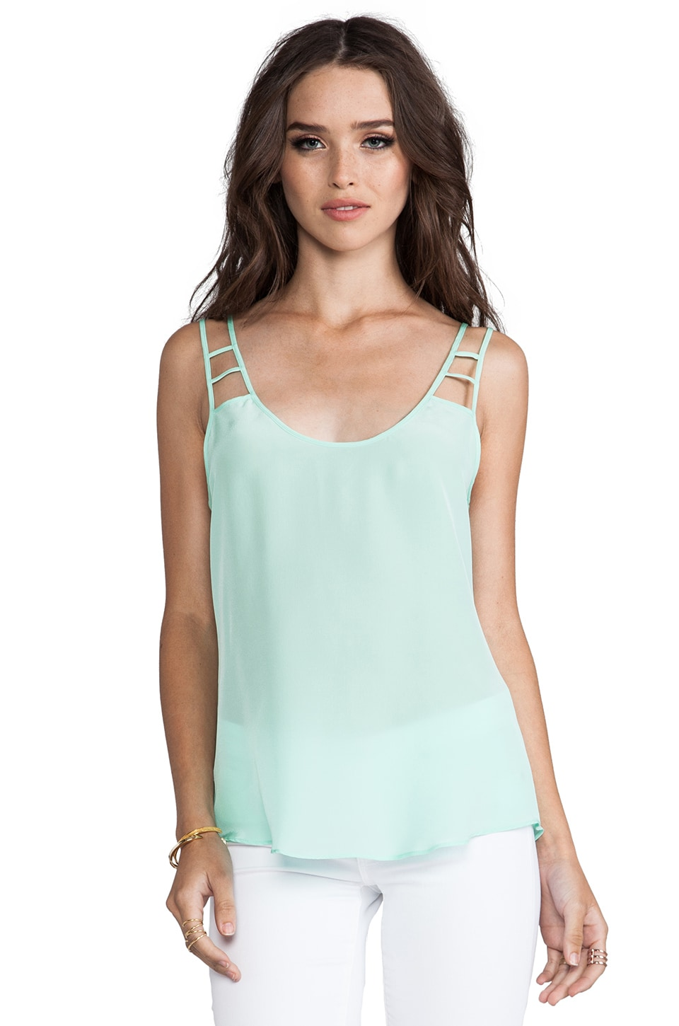 Rory Beca Maya Cut Out Cami in Honeydew