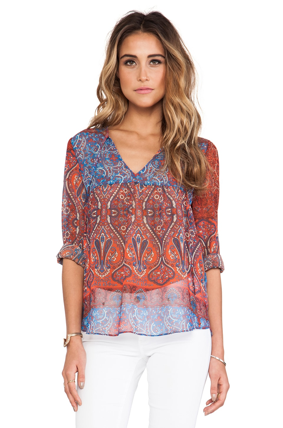 Rory Beca Augie Babydoll Blouse in Janis