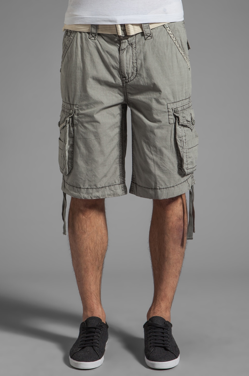 Rock Revival Cargo Short in Grey